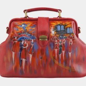 Деловая красная сумка с росписью ATS-2507
