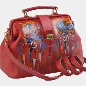 Деловая красная сумка с росписью ATS-2507 215087