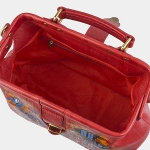 Деловая красная сумка с росписью ATS-2507 215089