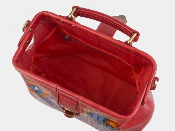 Солидная красная сумка с росписью ATS-2507