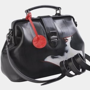 Деловая черная сумка с росписью ATS-2508 215082