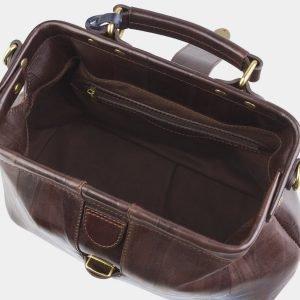 Солидная коричневая сумка с росписью ATS-2511 215069