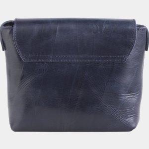 Кожаный синий клатч с росписью ATS-2499 215106