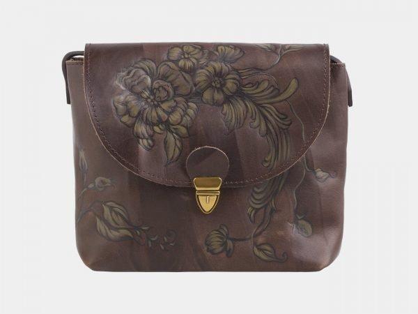 Уникальный коричневый клатч с росписью ATS-2503