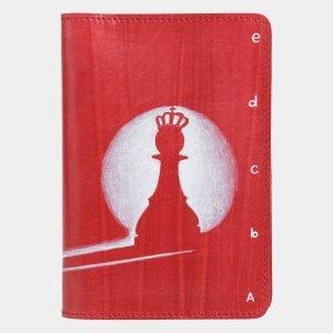 Кожаный красный аксессуар с росписью ATS-2035
