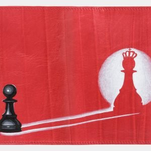 Вместительный красный аксессуар с росписью ATS-2035