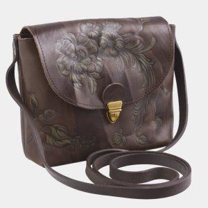 Уникальный коричневый клатч с росписью ATS-2503 215101
