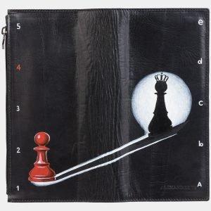 Неповторимый черный портмоне с росписью ATS-2038 215928