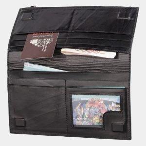 Неповторимый черный портмоне с росписью ATS-2038 215929