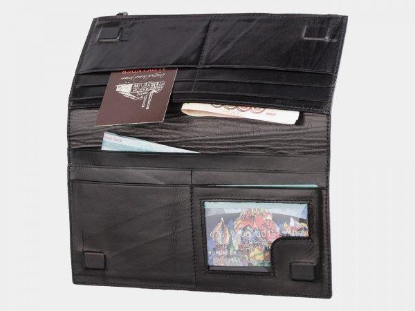 Уникальный черный портмоне с росписью ATS-2038