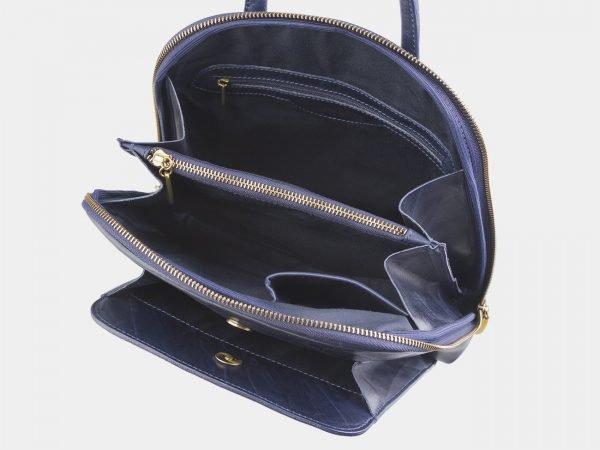 Функциональный синий рюкзак с росписью ATS-2528