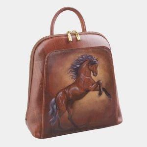 Модный светло-коричневый рюкзак с росписью ATS-2529 214998