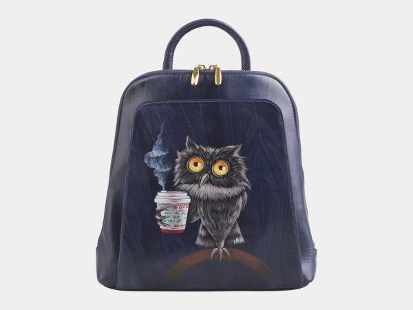 Вместительный синий рюкзак с росписью ATS-2530