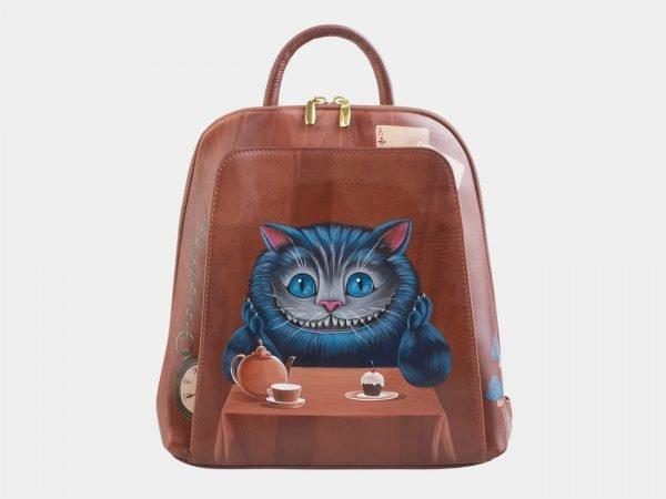 Уникальный светло-коричневый рюкзак с росписью ATS-2531