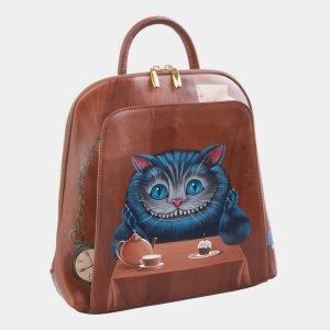 Солидный светло-коричневый рюкзак с росписью ATS-2531