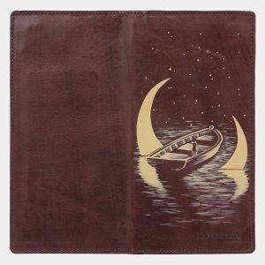 Модный коричневый портмоне с росписью ATS-2039 215924
