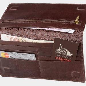 Модный коричневый портмоне с росписью ATS-2039 215925