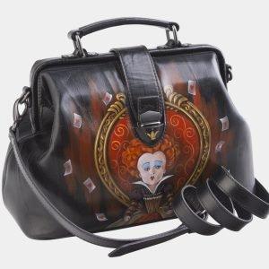 Удобная черная сумка с росписью ATS-2512 215062