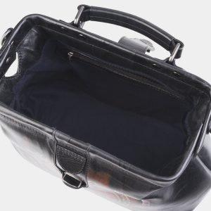 Удобная черная сумка с росписью ATS-2512 215064