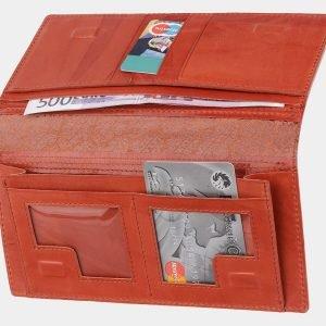Удобный оранжевый портмоне с росписью ATS-2044 215905