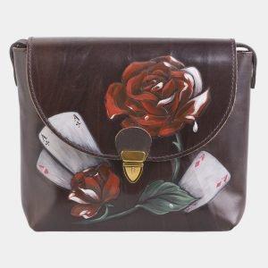 Модный коричневый клатч с росписью ATS-2516