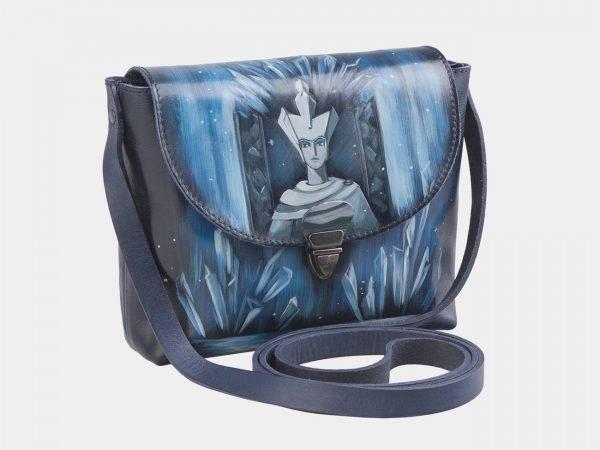 Модный синий клатч с росписью ATS-2517