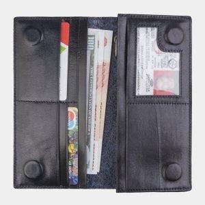 Уникальный синий портмоне с росписью ATS-2521 215030