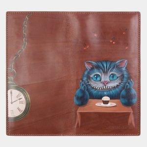 Стильный светло-коричневый портмоне с росписью ATS-2526 215012