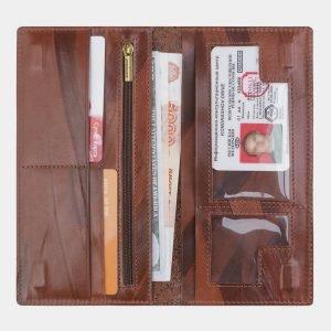 Стильный светло-коричневый портмоне с росписью ATS-2526 215013