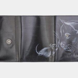 Неповторимый черный аксессуар с росписью ATS-2536