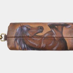 Модный светло-коричневый аксессуар с росписью ATS-2584