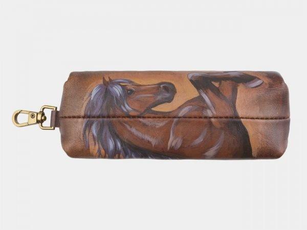 Функциональный светло-коричневый аксессуар с росписью ATS-2584