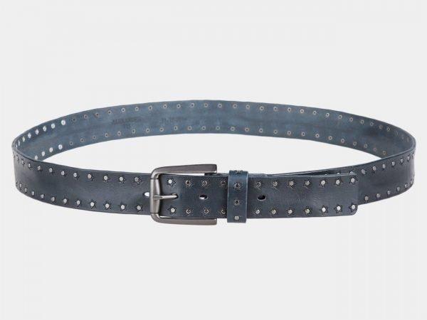 Солидный синий мужской джинсовый ремень ATS-816