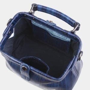 Уникальная синяя сумка с росписью ATS-2602 214771