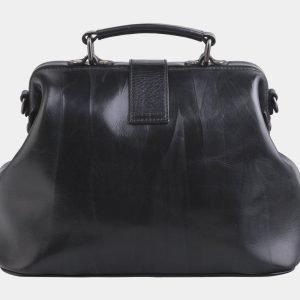 Удобная черная сумка с росписью ATS-2603 214765