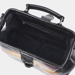 Удобная черная сумка с росписью ATS-2603 214766