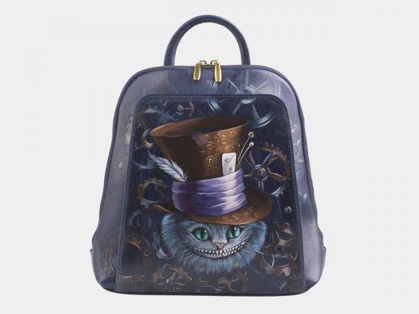 Функциональный синий рюкзак с росписью ATS-2599