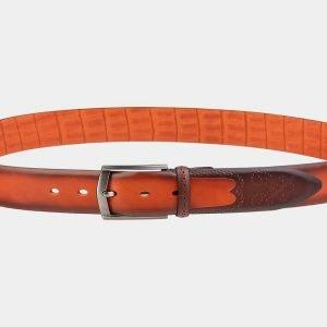 Удобный оранжевый мужской классический ремень ATS-1986