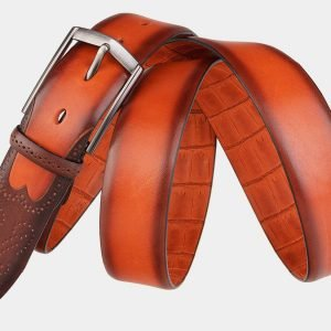 Удобный оранжевый мужской классический ремень ATS-1986 216082