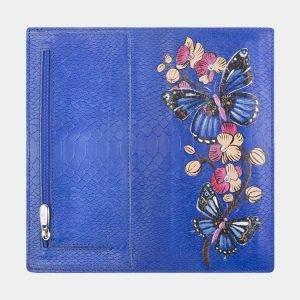 Деловой голубовато-синий портмоне с росписью ATS-2595 214796