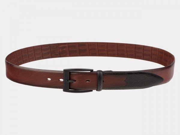 Стильный светло-коричневый мужской классический ремень ATS-1988