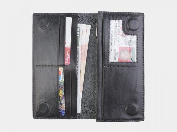 Функциональный серый портмоне с росписью ATS-2596