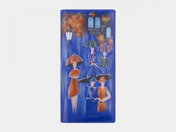 Неповторимый голубовато-синий портмоне с росписью ATS-2597