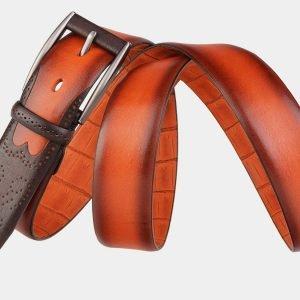 Неповторимый оранжевый мужской классический ремень ATS-1990 216066