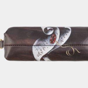 Уникальный коричневый аксессуар с росписью ATS-2587