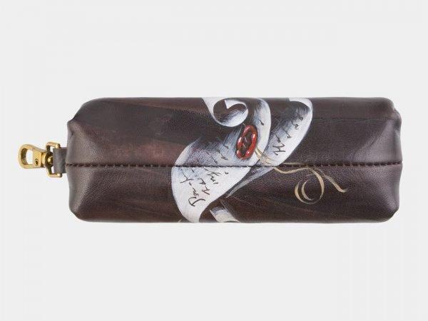 Неповторимый коричневый аксессуар с росписью ATS-2587