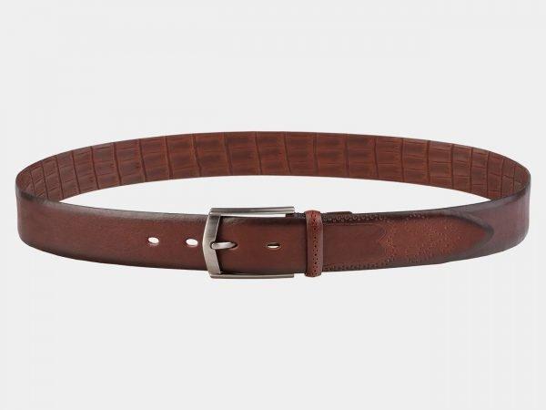 Уникальный светло-коричневый мужской классический ремень ATS-1995