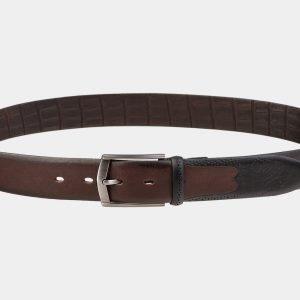 Кожаный коричневый мужской классический ремень ATS-1997