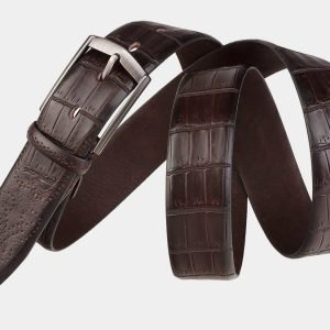 Стильный коричневый мужской классический ремень ATS-1999