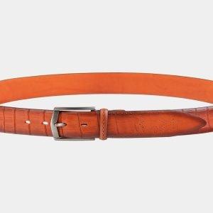 Деловой оранжевый мужской классический ремень ATS-2002